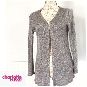 Sweaters - Charlotte Russe Knit Gray Cardigan